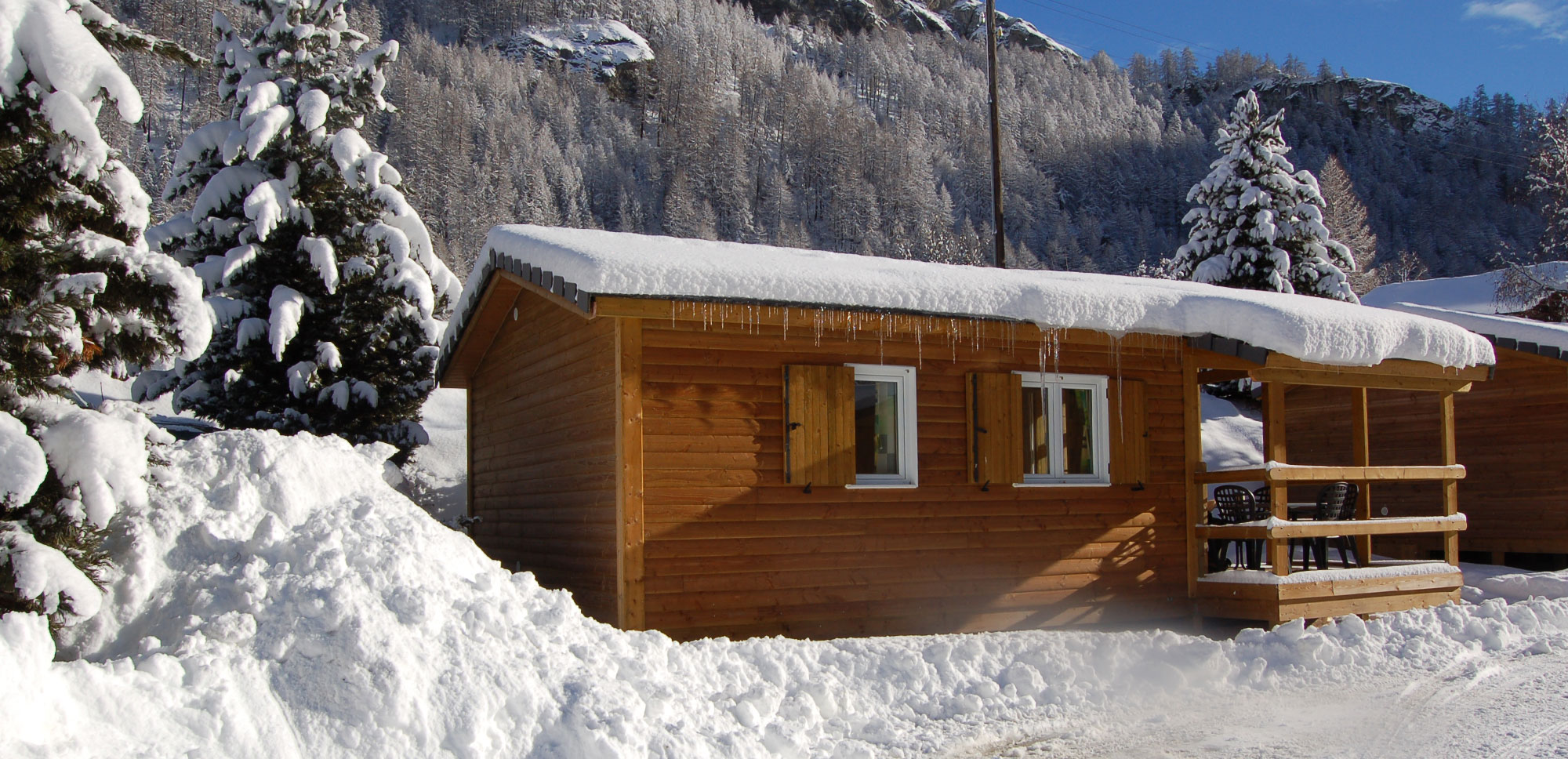 Nos bungalows en hiver