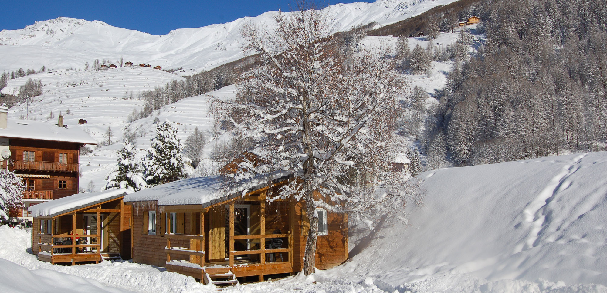 Camping montagne hiver